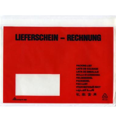 """Lieferscheintaschen 2210 C5 """"LIEFERSCHEIN - RECHNUNG"""" selbstklebend 250 Stück"""
