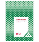 Urlaubsantrag 2915 A5 1x 50 Blatt