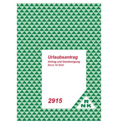Urlaubsanträge 2915 A5 1x50 Blatt Deckenblatt