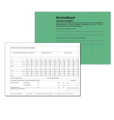 Kontrollbuch 3095 mit 30 Tageskontrollblättern A5-quer 32 Blatt nummeriert