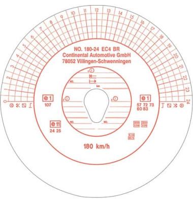 Diagrammscheiben 3097 für EC Tachoscheibe 180 Km/h Durchmesser 12cm 100 Stück