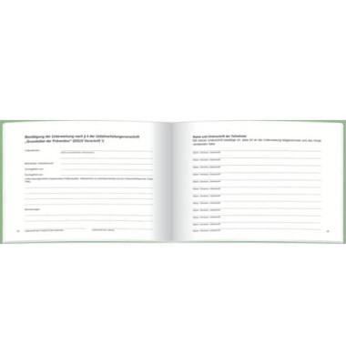 Unterweisungsbuch 3122 quer A5 24 Blatt