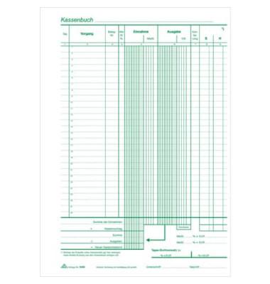 Kassenbuch 3155 A4 selbstdurchschreibend 2 x 40 Blatt