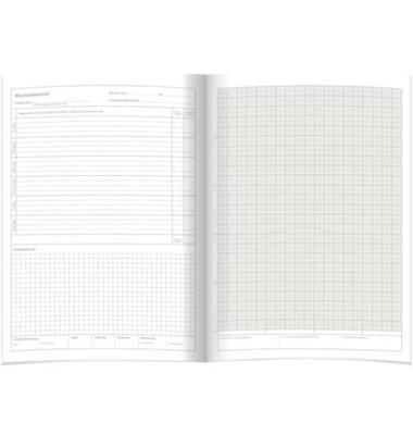 Wochenberichtsheft für 1/2 Jahr A4 28 Seiten