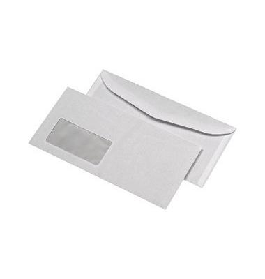 Kuvertierhüllen C6/5 mit Fenster nassklebend 75g weiß 1000 Stück
