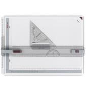 Zeichenplatte rapid A3 weiß/grau