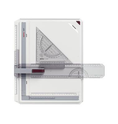 Zeichenplatte rapid A4 weiß/grau