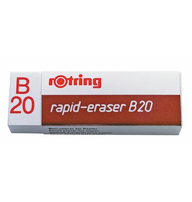 Radierer B20 für Bleistift weiß Kunststoff