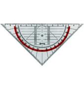 Geo-Dreieck CENTRO 16cm glasklar