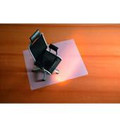 Bodenschutzmatte 120 x 130 cm Form O für Teppichböden transparent PP