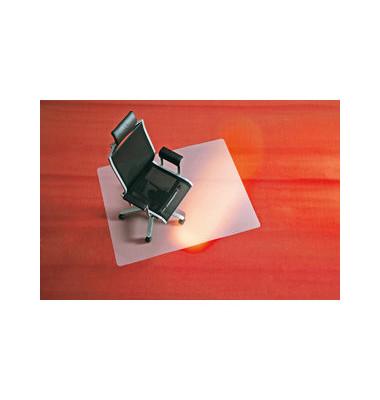 Bodenschutzmatte 120 x 150cm Form O für Teppichböden transparent PP