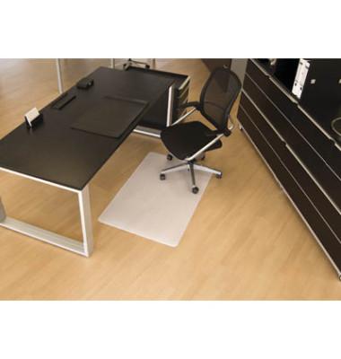 Bodenschutzmatte 90 x 120 cm Form O für Hartböden transparent PP