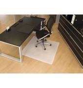 Bodenschutzmatte 110 x 120 cm Form O für Hartböden transparent PP