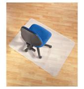 Bodenschutzmatte 120 x 130 cm Form O für Hartböden transparent PP