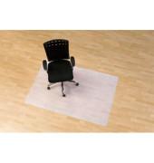 Bodenschutzmatte 120 x 150cm Form O für Hartböden transparent PP