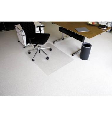 Bodenschutzmatte Ecoblue 90 x 120 cm Form O für Teppichböden transparent PET