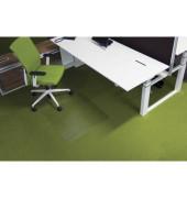 Bodenschutzmatte Ecogrip 90 x 120 cm Form O für Teppichböden transparent Makrolon