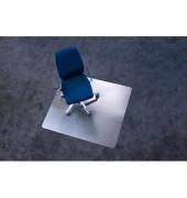 Bodenschutzmatte Ecogrip 110 x 120 cm Form O für Teppichböden transparent Makrolon