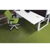 Bodenschutzmatte Ecogrip 120 x 130 cm Form O für Teppichböden transparent Makrolon