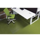 Bodenschutzmatte Ecogrip 120 x 180 cm Form O für Teppichböden transparent Makrolon