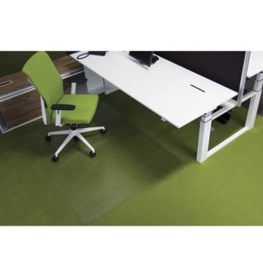 Bodenschutzmatte Ecogrip 120 x 200 cm Form O für Teppichböden transparent Makrolon