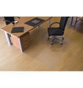 Bodenschutzmatte 120 x 180cm für Hartböden transparent