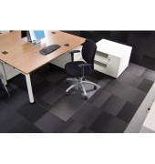 Bodenschutzmatte Rollsafe Serie 13 90 x 120 cm Form O für Teppichböden transparent Makrolon