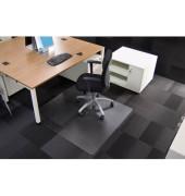 Bodenschutzmatte Rollsafe Serie 13 120 x 130 cm Form O für Teppichböden transparent Makrolon