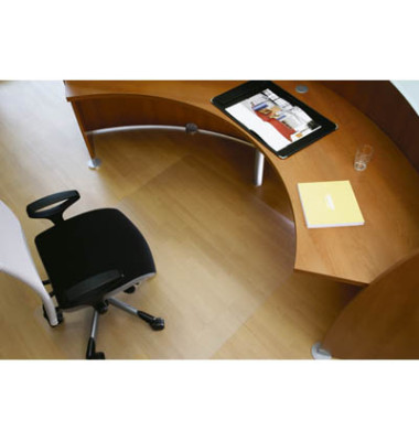 Bodenschutzmatte Rollsafe Serie 22 120 x 150 cm Form O für Hartböden transparent Makrolon