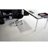 Bodenschutzmatte Rollt&Schützt 90 x 120 cm Form O für Teppichböden transparent Makrolon