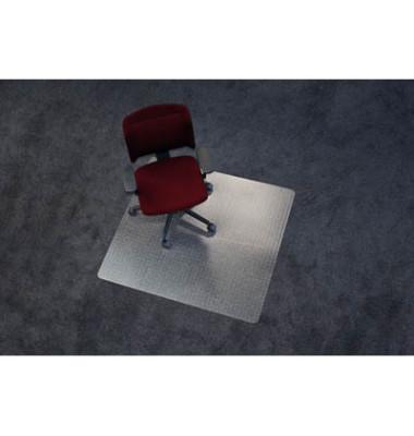 Bodenschutzmatte Rollt&Schützt 110 x 120 cm Form O für Teppichböden transparent Makrolon
