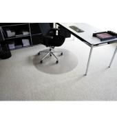 Bodenschutzmatte Rollt&Schützt Ø 120 cm Form R für Teppichböden transparent Makrolon