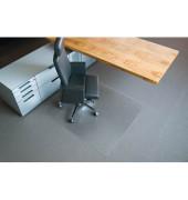Bodenschutzmatte Rollt&Schützt 120 x 130 cm Form O für Teppichböden transparent Makrolon