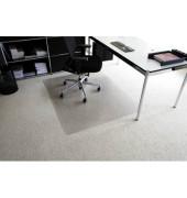 Bodenschutzmatte Rollt&Schützt 120 x 150 cm Form O für Teppichböden transparent Makrolon