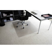 Bodenschutzmatte Rollt&Schützt 120 x 180 cm Form O für Teppichböden transparent Makrolon
