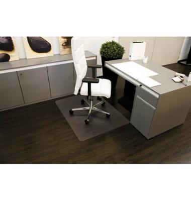 Bodenschutzmatte Rollt&Schützt 110 x120 cm Form O für Hartböden transparent Makrolon