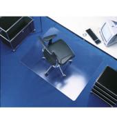 Bodenschutzmatte Transstat 120 x 130 cm Form O für Teppichböden transparent Makrolon
