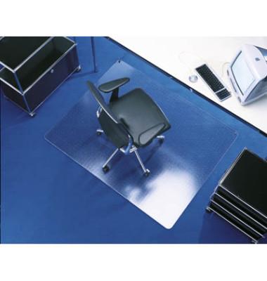 Bodenschutzmatte Transstat 120 x 150 cm Form O für Teppichböden transparent Makrolon