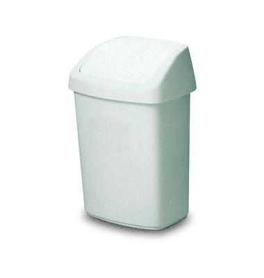 Schwingdeckel-Abfallbehälter 25 Liter weiß