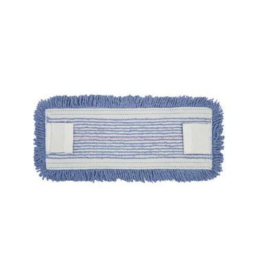 Flachmoppbezug Sani antimikrobiell blau 41 x 14 cm mit Laschen
