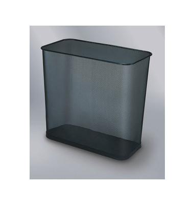 Drahtpapierkorb 28 Liter schwarz