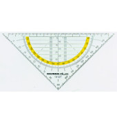 Kunststoff-Geodreieck 10127 rauchgrau-transparent 16cm