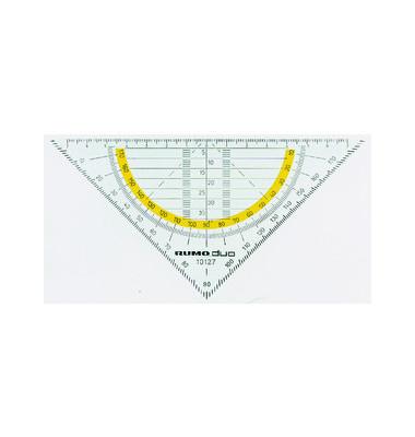 Geo-Dreieck 16cm transparent/rauchgrau