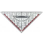 TZ-Dreieck 25cm transparent/rauchgrau