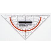 Geo-Dreieck 16cm mit Griff mm-Teilung transparent