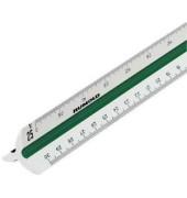 Kunststoff-Dreikantmaßstab 150/DIN/30 Maschinenbau-F weiß 30cm