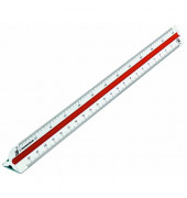 Kunststoff-Dreikantmaßstab 160/DIN/30 Maschinenbau-F weiß 30cm