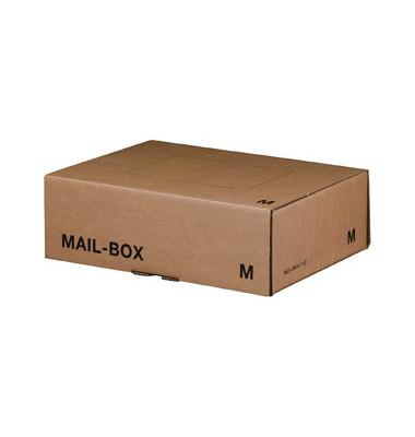 Versandkarton MAILBOX M braun 331x241x104mm wiederverschliessbar 20 Stück