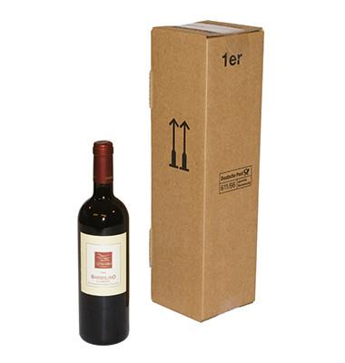 Flaschenkarton 105x105x420 mm für 1 Flasche braun 1 Stück