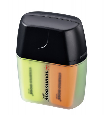 Textmarker Boss Mini 4er-Box farbig sortiert 2-5mm Keilspitze